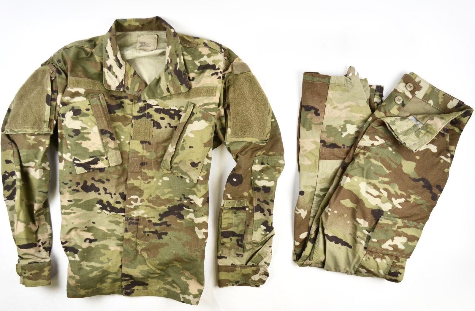 army usgi military uniform scorpion w2 ocp camo shirt pant ml medium