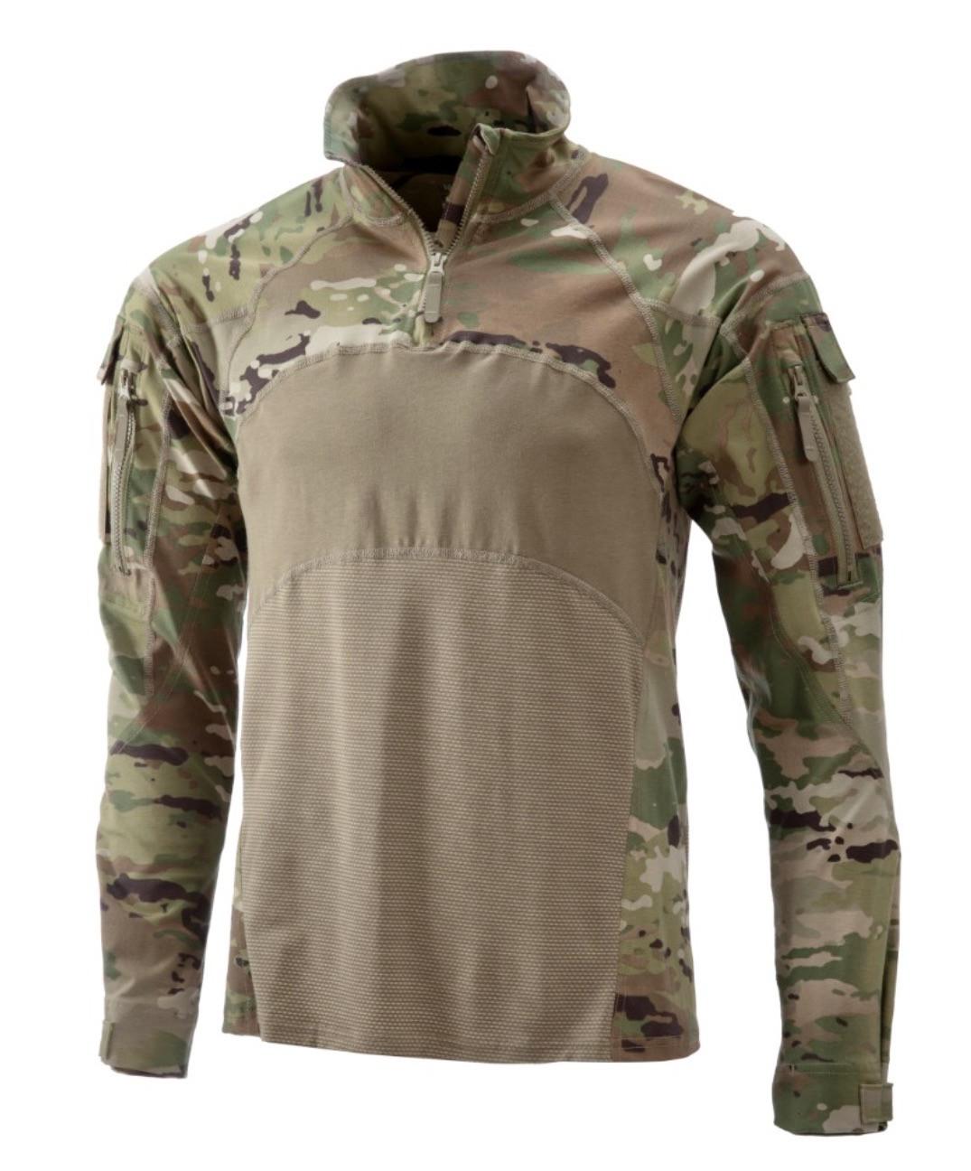 NWOT ARMY OCP COMBAT SHIRT HOT WEATHER LONG SLEEVE X-SMALL 1//4 ZIPPER FR TOP ACS